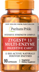 Zygest® 13 Multi-Enzyme <p> Intensive strength complex</p><p> 13 Bio-active naturally derived enzymes</p><p>Vegetarian</p>  90 Capsules  $42.29