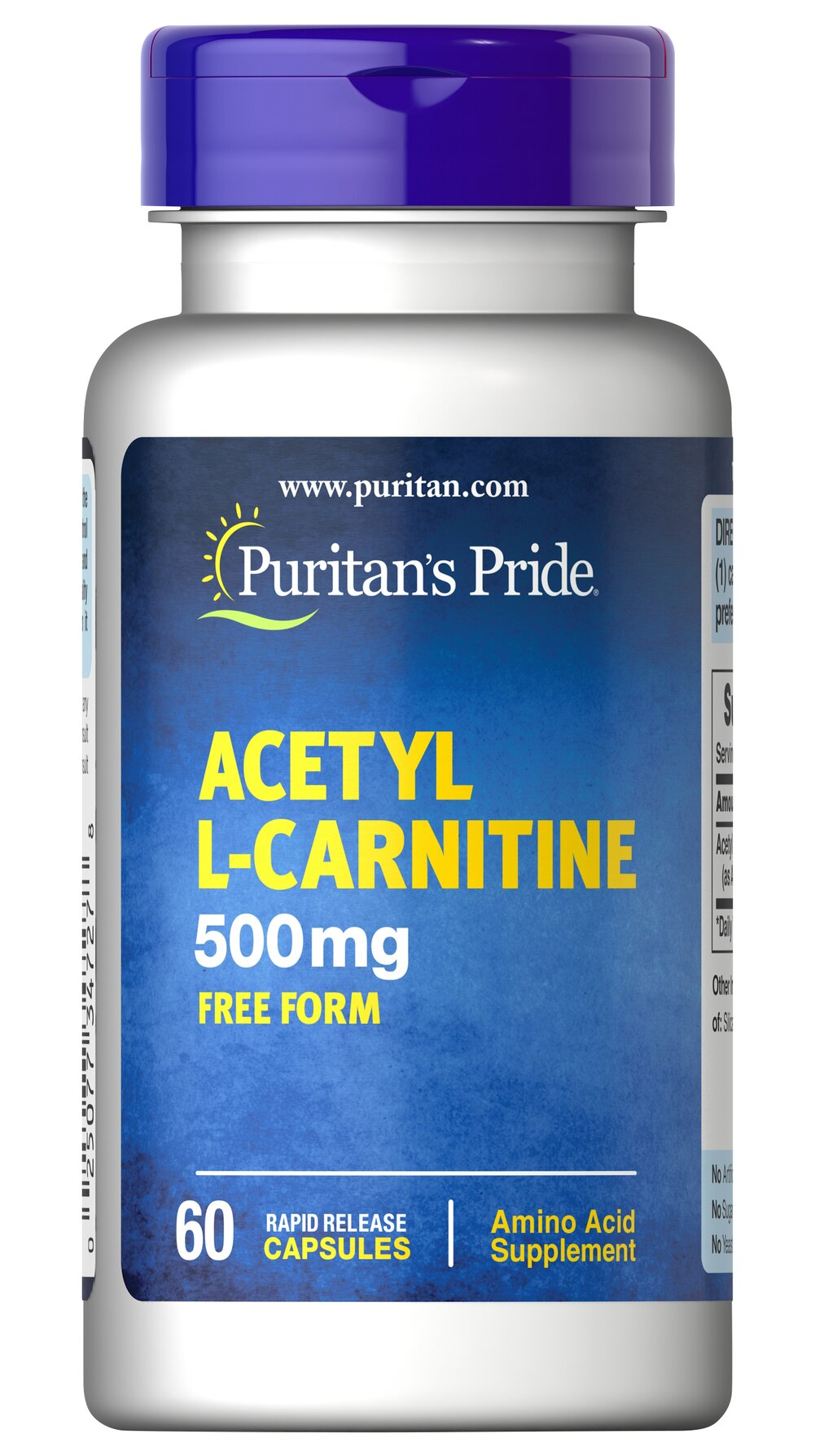 Acetyl L-Carnitine 500 mg <p>Acetyl L-Carnitine plays a role in the metabolism of food to energy.** Studies indicate that the combination of Alpha Lipoic Acid and Acetyl L-Carnitine helps promote metabolic functioning to fight against free radicals and oxidative stress.**</p>  60 Capsules 500 mg $16.99