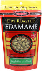 Lightly Salted Dry Roasted Edamame <p><strong>From the Manufacturer:</strong></p><p><strong></strong>Edamame is a young soy bean picked before it ripens. This gives them the green color. These dry roasted, lightly salted soy beans make a wonderful snack!</p><ul><li>Gluten-Free</li></ul> 4 oz Bag  $4.49