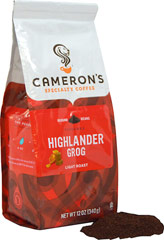 Highlander Grog Ground Coffee <p><strong>From the Manufacturer's Label: </strong></p><p>Highlander Grog is a luscious blend of flavors sweet, rich and nutty. It combines smooth caramel, silky butterscotch and robust rum with a nutty kick to yield a rich characteristic flavor. Our Arabica beans are carefully selected from around the world, precisely blended and roasted in small batches, and brought directly to you for the purest, freshest flavor.</p> 12 oz