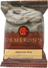 "Highlander Grog Ground Coffee Sample Size <p><strong>From the Manufacturer's Label: </strong></p><p><span class=""bold-text"">Made from 100% Arabica Beans, Kosher</span></p><p><span class=""bold-text"">Flavor: </span>Rich, bold, buttery flavor.</p><p><span class=""bold-text"">Taste: </span>Deeply sweet with a hint of nuttiness.</p><p><span class=""bold-text&quo"