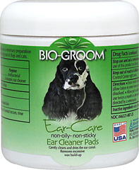 Ear Cleaner Pads <p><strong>From the Manufacturer's Label: </strong></p><p>Helps reduce ear odors-Gently cleans and dries the ear canal. Removes excessive wax build-up. It is non-oily and non-sticky. Use twice weekly to reduce ear disorders and keep ears clean. Use before and after swimming and bathing.</p><ul><li>Made in the USA</li></ul> 25 Pads  $16.99