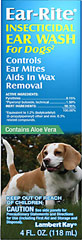 Ear Insecticidal Wash for Dogs <p><b>From the Manufacturer's Label: </p></b><p>We are proud to bring you Ear Cleansing Solution from Ear-Rite.  Look to Puritan's Pride for high quality national brands and great nutrition at the best possible prices.</p> 4 oz Liquid  $6.19