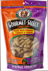 Gourmet Select Carrot Crunch Mini Bones <p><b>From the Manufacturer's Label: </p></b><p>Good nutrition can extend the length and quality of a dog's life.  So, if it's a really healthy and delicious organic treat you're looking for, look no further than Nature's Animals' Gourmet Select Dog Biscuits!</p><p>No chemical preservatives for additives.</p><p>Carrot Crunch Flavor</p> 7 oz Bag  $8.09