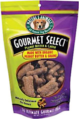Gourmet Select Peanut Butter Crunch Mini Bones <p><b>From the Manufacturer's Label: </p></b><p>We are proud to bring you Gourmet Select Peanut Butter Crunch Mini Bones from Nature's Animals.  Look to Puritan's Pride for high quality national brands and good nutrition at the best possible prices.</p> 7 oz Bag  $8.09