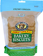 Chunky Chicken Bakery Biscuits <p><b>From the Manufacturer's Label: </p></b> <p>We are proud to bring you Chunky Chicken Bakery Biscuits from Nature's Animals.  Look to Puritan's Pride for high quality national brands and good nutrition at the best possible prices.</p> 13 oz Bag  $11.69