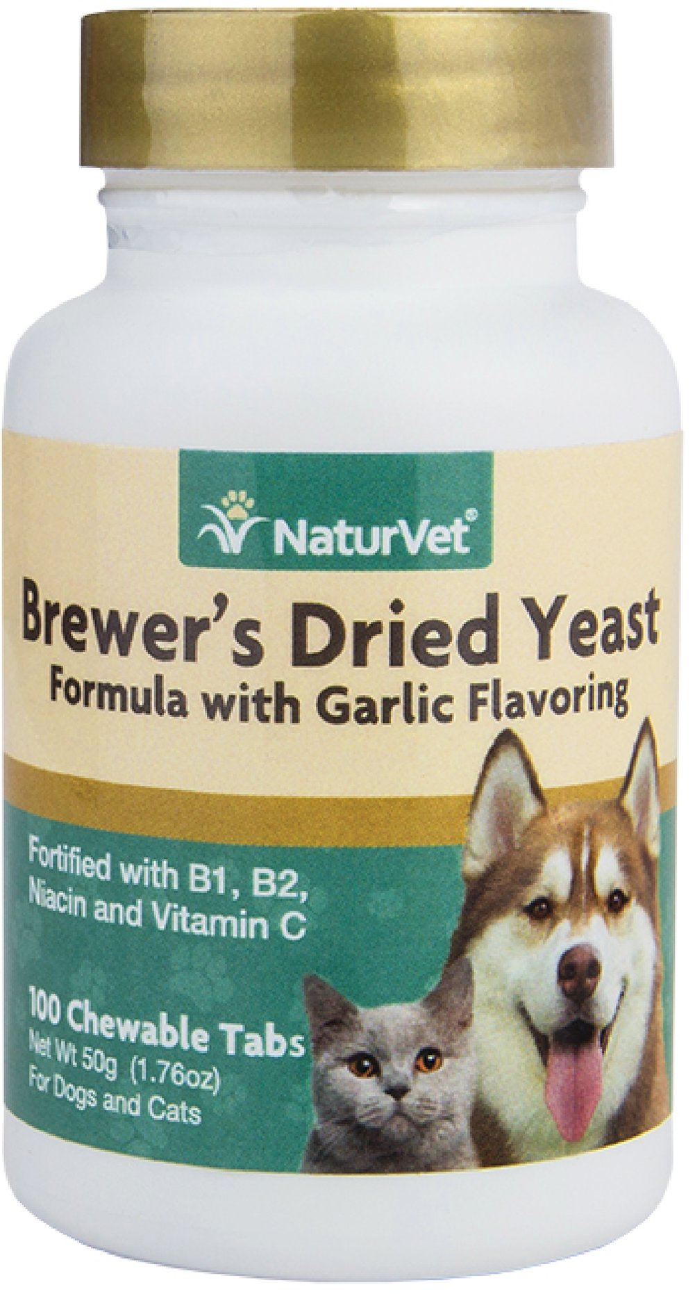 Brewers Yeast & Garlic Tablets for Dogs & Cats <p><strong>From the Manufacturer's Label: </strong></p><p>Vitamin Enriched Tablets: Contains top quality debittered yeast that your dogs and cats love to eat.  Contains 5% garlic and fortified with B-1, B-2 and Niacin.  Also includes Vitamin C, an important antioxidant.</p> 100 Chewables  $7.99