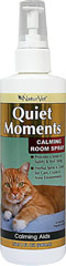 Calming Spray for Cats <p><b>From the Manufacturer's Label: </p></b> <p>Quiet Moments Herbal Calming spray is formulated to simulate the type of pheromones that provide cats with a sense of safety and well being.  Your pet will find comfort in the light, fresh fragrance.</p> 8 oz Spray  $13.99