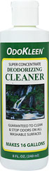 Odokleen® Concentrate Deodorizing Cleaner <p><strong>From the Manufacturer's Label: </strong></p><p>Kills odors & cleans on contact.  Sanitizes and deodorizes all washable surfaces such as crates, grooming tables, exam tables, kennels, and fabrics in one easy step.  It will not discolor clothing and has no bleach odor. Less expensive to use than bleach.  Super concentrated; one half an ounce makes a gallon of ready-to-use deodorizing cleaner.  Conta