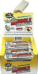 Muscle Sandwich Vanilla Peanut Butter <p><b>From the Manufacturer's Label:</b></p> <p>Muscle Sandwich manufactured by USA Sports.</p> 12 Bars  $13.99