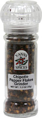 Chipotle Pepper Grinder <b><p> From the Manufacturer:</b></p><p>This hot chili pepper is dried by smoking and has a wrinkled, dark red skin.  Chipotles are generally added to stews and sauces.</p> 1.2 oz Grinder  $4.49