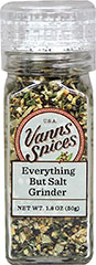 Everything But Salt Grinder <b><p> From the Manufacturer:</b></p><p>An excellent salt-free table seasoning that gives a fresh and savory flavor to any fare.</p> 1.8 oz Grinder  $8.99
