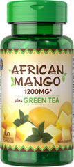 African Mango Extract Plus Green Tea <p>African Mango is a bright green fruit traditionally used in Nigerian and Cameroonian cuisine. African Mango is valued for its nuts, known as ogbono, etima, odika or dika nuts.  These capsules contain 1200 mg of African Mango* Incudes Green Tea, which naturally contains flavonoids for overall wellness**  Rapid release capsules disperse quickly into your system. </p>* From 300 mg of 4:1 extract.      60 Capsules 300 mg/200 mg $19.99