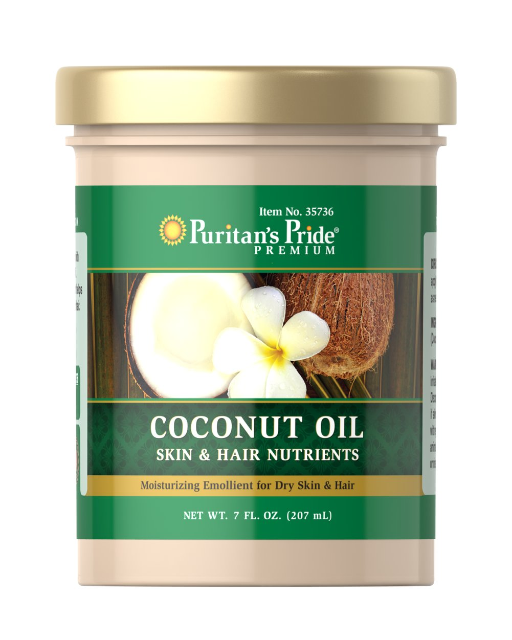 Coconut Oil for Skin & Hair <p>Pamper your body with  Coconut Oil! This exotic topical nutrient will help moisturize and soften dry, rough skin – and can even be used in your hair! And like the name implies, there's just one ingredient: coconut oil! No fillers or added fragrances.</p> 7 fl oz Oil  $10.29