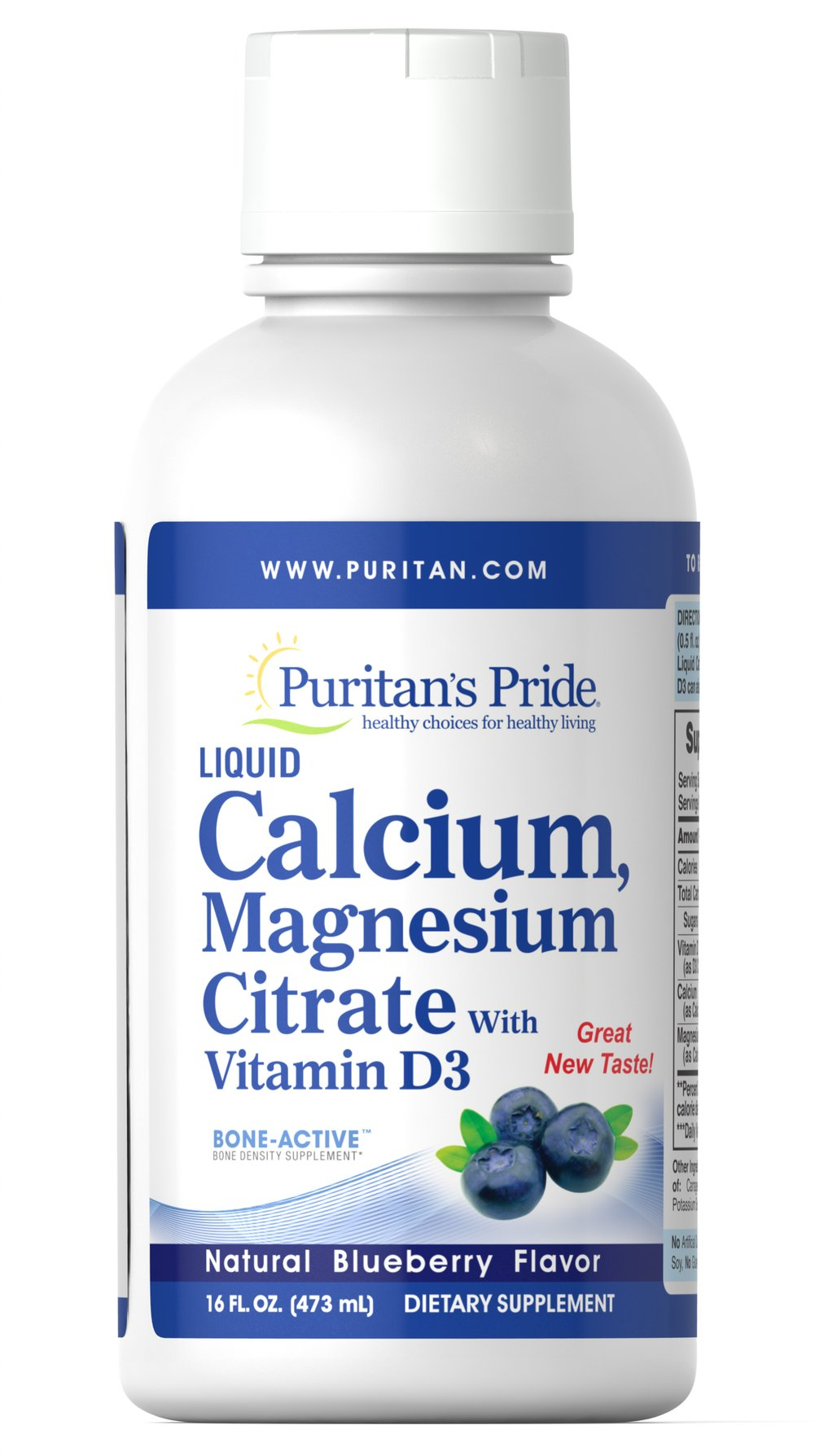 Liquid Calcium Magnesium with Vitamin D3 Blueberry <p>Promote Bone Health with Our Delicious Liquid Formulas**</p><p>Finally! The ability to promote bone health in an easy liquid formula!**</p><p>Our Liquid Calcium Magnesium with Vitamin D3 provides three vital minerals that work synergistically to promote healthy bones.** Calcium supports bone strength, while Magnesium is essential for bone structure and the mineralization of bone.** Vitamin D helps develop strong