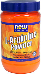 L-Arginine Powder <p><b>From the Manufacturer's Label: </p></b><p>L-Arginine Powder is manufactured by Now Foods.</p> 1 lb Powder  $24.99