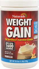 "Weight Gainer Vanilla <p><strong><br type=""_moz"" /></strong></p><p>We are proud to bring you Weight Gainer Vanilla from Naturade.  Look to Puritan's Pride for high quality national brands and great nutrition at the best possible prices.</p> 16.93 oz Powder  $12.99"