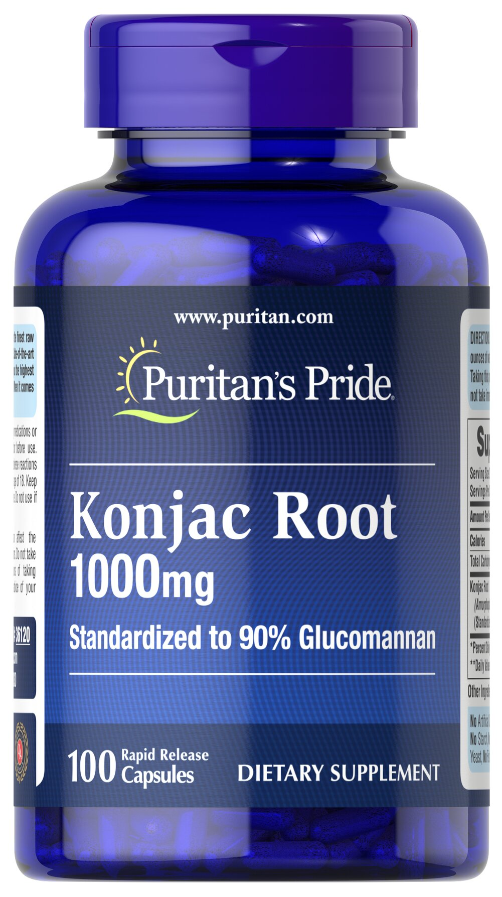 Konjac Root Glucomannan 1000 mg <p>Glucomannan is specifically designed to be used with your reduced calorie diet and daily exercise plan and is a popular addition to all types of nutritional programs.</p><p>Glucomannan helps maintain cholesterol levels already within a normal range.**</p> 100 Capsules 1000 mg $18.99