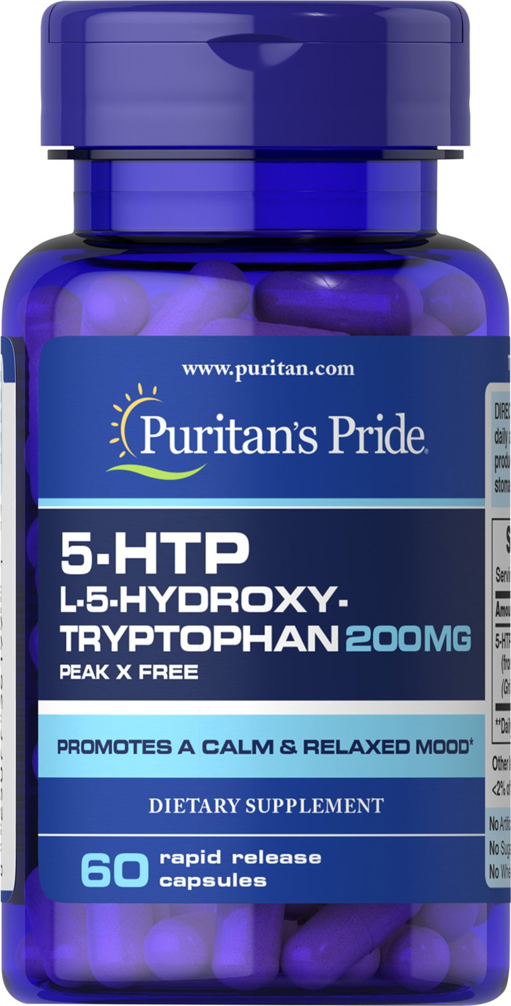 5-HTP 200 mg <p>5-HTP is a precursor to serotonin, a neurotransmitter involved in sending messages through the nervous system.  Adults can take one capsule twice daily as needed or before bedtime.</p> 60 Capsules 200 mg $26.99