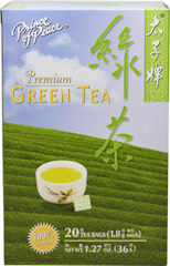 Premium Green Tea <strong></strong><p><strong>From the Manufacturer:</strong></p><p>Young tender Premium Green Tea is freshly harvested from a tea plantation in China.  The leaves are then gently washed, steamed, rolled and dried to retain their delicate flavor and aroma.</p> 20 Tea Bags  $3.19