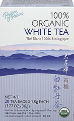 Organic White Tea <strong></strong><p><strong>From the Manufacturer:</strong></p>Prince of Peace 100% Organic White Tea leaves and buds are picked at a young age, and go through the Zhenge-style <br />of processing which gives the tea a richer aroma, a fuller body, and a deeper dark color. White <br />tea's antioxidant content is greater than that of green tea and delivers a higher antioxidant content. <br />Enjoy brewed hot or pour over