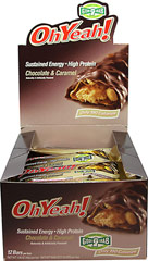 Oh Yeah Chocolate Caramel 45 gram Bar <p><strong>From the Manufacturer's Label:</strong></p><p>Oh Yeah Bars are manufactured by ISS Research.  Available in Chocolate Carmel and Carmel Crunch flavors.</p> 12 Bars  $15.49