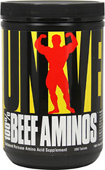 100% Beef Aminos <p><strong>From the Manufacturer's Label:</strong><br />100% Beef Aminos is a high potency blend of superior beef amino acids derived from the highest quality beef protein isolate, beef albumin concentrate and Argentine beef liver.* It contains a full spectrum of highly concentrated amino acids as well as many other necessary and essential nutrients, harnessing the anabolic potential of beef, ideal support for your muscle building endeavors.**<br /
