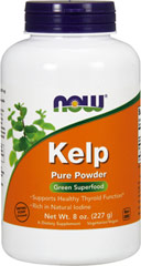 Kelp Powder <p><strong>From the Product Manufacturer</strong></p><p>Kelp is a large, leafy brown algae that belongs to the seaweed family and grows in the colder waters of the world's oceans.</p>    <p>Green Superfood</p><p>100% Pure Powder</p><p>Rich in Natural Iodine</p><p>A Dietary Supplement</p><p>Vegetarian Product</p> 8 oz Powder 200 mg $4.79