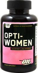 Opti-Women™ <p>We are proud to bring you Opti-Women™ from Optimum Nutrition.  Look to Puritan's Pride for high quality national brands and great nutrition at the best possible prices</p> 120 Capsules