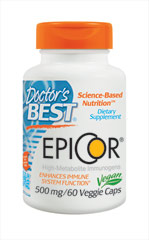 Epicor 500 mg <p></p><p>From the Manufacturer's Label:<br /><br />High Metabolite Immunogens<br /><br />EpiCor® is a natural immune-supportive compound that fits into the unique category of being a high metabolite immunogen.**  EpiCor® is a nutritive dried  yeast fermentate that supports cellular metabolism and immune function.**  It is derived from the yeast Saccharomyces cerevisiae, a non-pathogenic yeast common