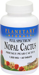 Full Spectrum Nopal Prickly Pear Cactus 1000 mg <p><strong>From the Manufacturer's Label:</strong></p><p>Nopal (Opuntia spp.) also known as prickly pear cactus, has been one of the most important botanicals consumed as a health-promoting food for centuries.  The cactus contains a wide array of beneficial compounds, including antioxidants that are important for overall health.**  Full Spectrum™ Nopal Cactus consists of flesh of the cactus ""