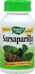 Sarsaparilla Extract 425 mg <p>We are proud to bring you Sarsaparilla Root from Nature's Way.  Look to Puritan's Pride for high quality national brands and great nutrition at the best possible prices.</p> 100 Capsules 425 mg $6.49