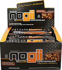 "Nogii No Gluten Super High Protein Bars  <p><b>From the Manufacturer:</p></b> <p>Nogii No Gluten Super High Protein Bar in chocolate peanut butter caramel crisp is part of a Gluten Free Solution for healthy families. </p> <p>• 12 High Protein Bars</p> <p>• All Natural</p><p>• 30g Protein ""I created the Nogii bar as a solution to my search for a lower calorie, NO GLUTEN, NO GUILT, HIGH-PROTEIN, ALL-NATURAL meal on the go with"