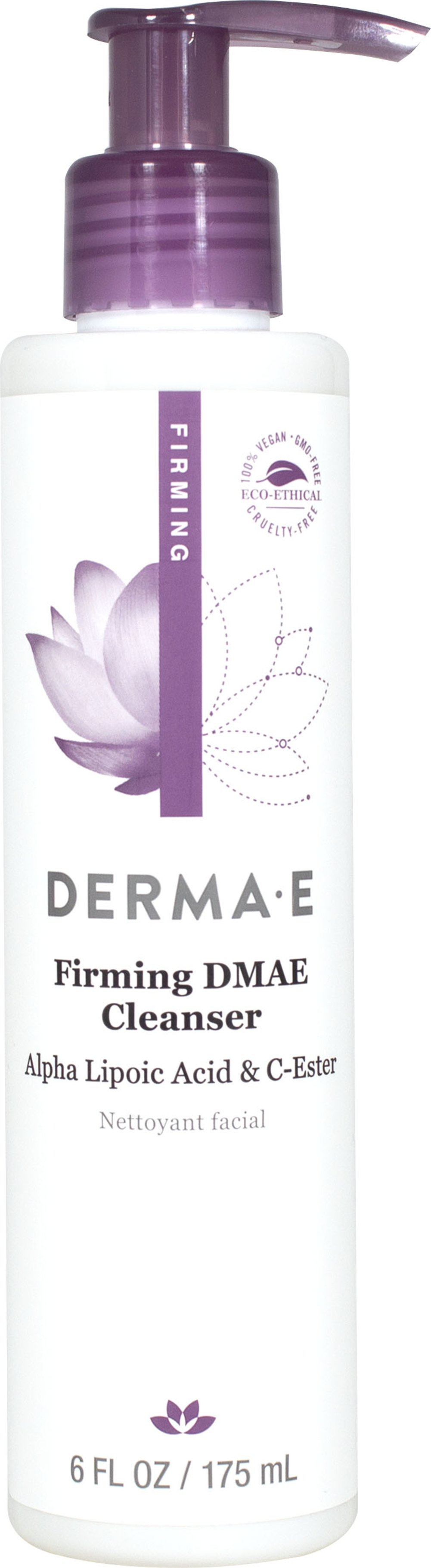 Derma E® DMAE, Alpha Lipoic, C-Ester Facial Cleanser <p><strong>From the Manufacturer:</strong></p><p>Start your firming facial skin care routine with this foaming facial cleanser that is suitable for all skin types. Naturally enriched to help tighten, tone and restore skin's smooth texture while preventing dehydration.</p><p>With Botanical Extracts</p><p>pH Balanced</p><p>Cruelty-free, Paraben-free, Eco-friendly</p>&lt