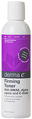 Derma E® DMAE, Alpha Lipoic, C-Ester Firming Facial Toner <p><strong>From the Manufacturer:</strong></p><p>This refreshing firming facial toner helps clear away remaining traces of cleanser and impurities without disturbing your skin's moisture balance. Enriched with herbal extracts to naturally refresh, soothe and calm skin.</p><p><strong>Tightens and Tones</strong></p><p><strong>pH Balanced</strong></p>&lt