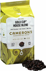 Gold Cup House Blend Whole Bean Coffee <strong></strong><p><strong>From the Manufacturer's Label:<br /></strong></p>The lush boldness of this blend results in a truly wonderful cup of coffee. When it comes to premium quality coffee, it's all about the bean. These flavorful Arabica beans are precisely blended and meticulously roasted – you'll taste the freshness in every cup! 10 oz Bag  $15.99