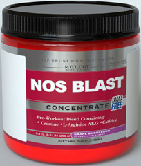 NOS Blast Ultra Concentrate Grape <p>Pre-Workout Neuromuscular Stimulator**</p><p>Synergistic Blend of :  Creatine, NOS Inducers, Caffeine</p><p>NOS Blast Concentrate helps to sustain mental focus during the most challenging sessions at the gym.** This concentrated formula combines caffeine, creatine and amino acids to provide the nutrients necessary for a multi-phase workout without the need for stacking. Our formula works with the neural system and normal metaboli