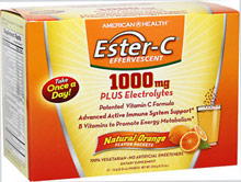 Ester-C Effervescent Natural Orange Drink Mix <p>Ester-C® Effervescent Vitamin C Packets offer powerful nutrition in a delicious, natural orange flavored formula. Just take one packet daily with 4-6 fl. oz. of water and you are good to go!</p><p>Patented Ester-C® increases levels of Vitamin C in the body - getting into white blood cells, an important part of your immune system.* And, because Ester-C® absorbs into your system and stays there…you get 24-hour immune
