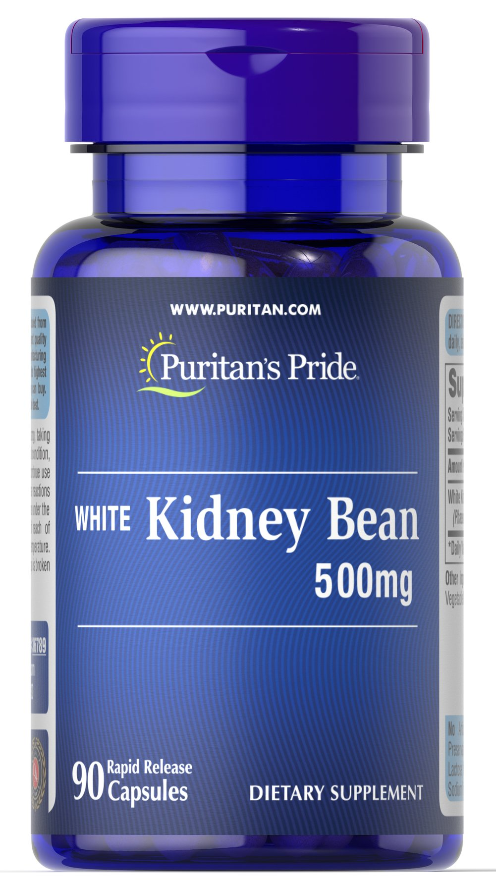 White Kidney Bean <p>We are proud to bring you White Kidney Bean.   Look to Puritan's Pride for high quality products and great nutrition at the best possible prices. </p><p></p> 90 Capsules 500 mg $19.59