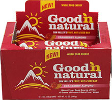 Good N Natural Cranberry Almond Bars Good 'n Natural Cranberry Almond Bars-- a uniquely delicious fruit, nut and seed bar. <p></p><p>With gluten free rolled oats, organic brown rice syrup, organic diced soynuts, organic almond butter and more! </p><p>Vegan & Dairy Free</p> 6 per Box  $12.99