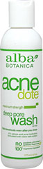 Alba Acne Dote Deep Pore Wash <p><b>From the Manufacturer:</b></p>  <p><b>Maximum Strength, Oil-Free</b></p> <p><b>Fights Breakouts Even After You Rinse</b></p> <p><b>2% Salicylic Acid Formulated with Willow Bark Extract</b></p>  <p>Are your pores yearning to breathe free? Clean them up with this powerfully natural, botanically effective acne wash. Formulated with zit-zapping Salicylic Acid (nat