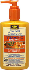 Avalon Vitamin C Refreshing Cleansing Gel <p><strong>From the Manufacturer's Label</strong></p><p><strong>Gentle Cleansing Plus Antioxidant Protection</strong></p><p>For Normal to Oily Skin</p><p>Our Refreshing Cleansing Gel with Vitamin C Lemon Bioflavonoids and organic White Tea gently removes impurities while protecting your skin and its natural balance from free radical damage generated by sun exposure.</p><p>M