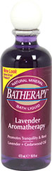 Queen Helene Lavender Batherapy® Mineral Bath Liquid  <p><b>From the Manufacturer's Label:</b></p>  <p><b>Lavender + Cedarwood Oil</b></p> <p><b>Promotes Tranquility</b></p>  <p>This Batherapy® Lavender Aromatherapy formula helps melt away the day's tensions. Coupling the therapeutic properties of natural minerals and aromatherapy botanicals, including eucalyptus, it creates a serene spa bath experience that