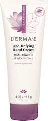 Derma E® Age Defying Hand Crème <p><strong>From the Manufacturer</strong></p><p><strong>With Green Tea, Olive, Aloe, Vitamin E and MSM</strong></p><p><strong>Moisturizes Dry Skin</strong></p><p><strong>Maintains Youthful Hands and Cuticles</strong></p><p>DermaE®'s Age-Defying Hand Crème is a unique non-greasy hand crème that helps reverse the visible signs of aging, reli