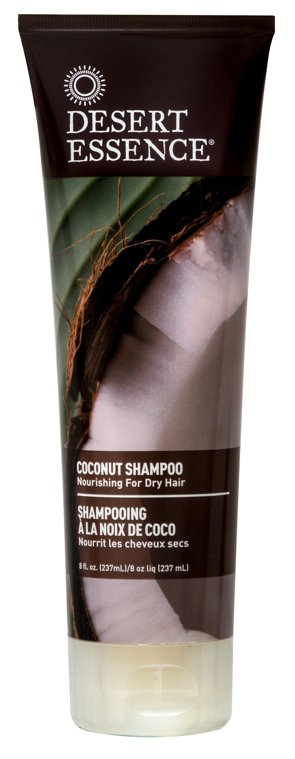 Desert Essence® Coconut Shampoo <p><strong>From the Manufacturer's Label:</strong></p><p>Nourishing for Dry Hair</p><p>Bring back shine and health to over-processed, damaged hair. Infused with organic coconut oil to provide intense moisture, smooth frizzies, and restore hair's natural luster. With continued use, hair looks revived, strong and healthy.</p><p>Manufactured by Desert Essence®.</p> 8 fl oz Shampoo  $5.89