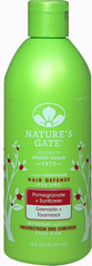 Nature's Gate Pomegranate Sunflower Hair Defense Conditioner <p><b>From the Manufactuer's Label:</b></p> <p><b>Protects Color-Enhanced Hair from Fading</b></p>  <p>Nature's Gate Pomegranate Sunflower Shampoo defends color-treated hair from the damaging effects of UV rays, the environment and styling.  This moisture-laden conditioner is formulated with Pomegranate, Sunflower and Red Tea Leaf for their antioxidant properties and our 7 H