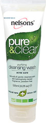 Nelson Bach Pure & Clear Purifying Cleansing Wash <p><b>From the Manufacturer:</b></p> <p>Naturally & Gently Cleanses Skin</p> <p>Dermatologically Tested</p> <p>Fragrance &  Paraben Free</p>  <p>The Nelsons Pure & Clear 4 step system works in synergy to create and maintain clear skin naturally and homeopathically. The Purifying Cleansing Wash gently clears blocked pores of impurities, leaving skin looking clear and