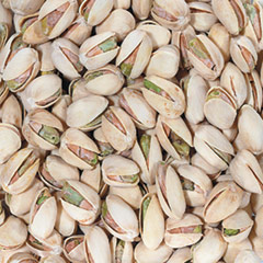 "Roasted Salted In Shell Pistachios <p>A top seller in the nut family! Pistachio nuts are a popular snack and chock-full of nutrients. These pistachios are roasted to perfection and lightly salted. </p><strong><span style=""text-decoration:underline;""></span></strong> 8 oz Container  $8.79"