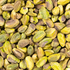 "Roasted & Unsalted Shelled Pistachios <p>Let us do the work for you! These roasted unsalted shelled pistachios are a favorite amongst those who love the meat of the pistachio but would prefer not having to take them out of the shells. Great for snacking as well as cooking and baking.  </p><p><strong><span style=""text-decoration:underline;""></span></strong></p> 6 oz Container  $11.69"