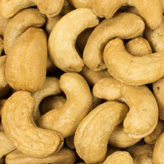 Roasted Unsalted Cashews <p>These large cashews are one of our most popular snacks, and for good reason. These are no ordinary nuts. Delicately roasted to bring out their sweet, nutty flavor, these irresistible cashews disappear quickly, so order plenty. One ounce of cashew nuts has just 170 calories, 169 mg of potassium and 5 grams of protein. </p> 8 oz Container  $8.99